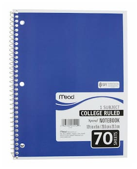 Mead  8 In. W X 10-1/2 In. L College Ruled  Spiral  Notebook Pack Of 24