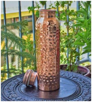 Meenamart. Com Hammer Stainless Steel Water Bottle (Gold, Pack of 1 )
