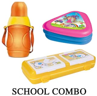 Milton School Bottle With Milton Lunch Box And Pencil Box