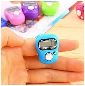MINI HAND TALLY COUNTER FINGER RING DIGITAL - PACK OF 5 (Assorted Color)