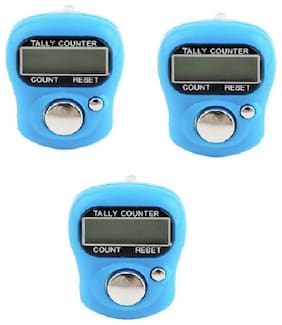MINI HAND TALLY COUNTER FINGER RING DIGITAL ELECTRONIC HEAD COUNT (Pack of 3)
