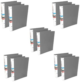 MMRJ PVC Plastic Ring Binder File, 2D A4 Size Tough & Durable A4 Size Ring Binder Box Board File ( Pack OF 10)