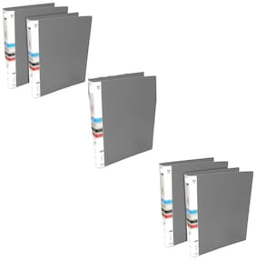 MMRJ PVC Ring Binder File, 2D A4 Size Tough & Durable A4 Size Ring Binder Box Board File -(Pack of 5 )