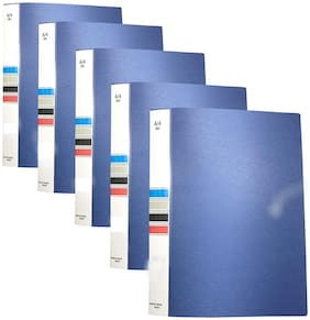 MMRJ  Ring Binder File, 2D A4 Size Tough & Durable A4 Size Ring Binder Box Board File (Blue) -(Pack of 5)