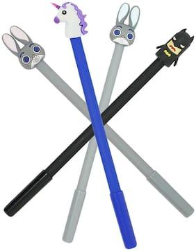 Mobaccs Batman, Blue Unicorn, Bunny Dark Grey and Bunny Gel Pen (Set of 4 pcs)