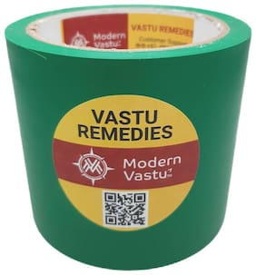 """ModernVastu Remedies Green Colour Tape for Zone Balancing & Rectification of (Main Entrance & Toilet Correction   Size 3.5"""" Inch - 20 Meter"""