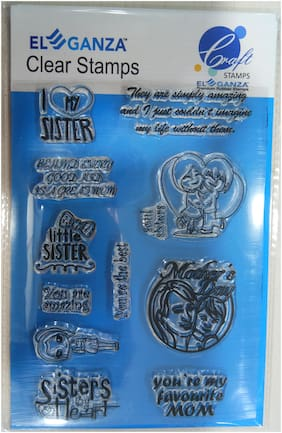 Mom & Sister Rubber stamp craft