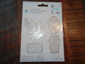 MOMENTA SUCCULENT CACTUS DIE CUTTING SET 3 PC. SCRAP CARDS DECOR PAPER CRAFTS