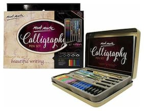 Mont Marte Calligraphy Set, 33 Piece. Includes Calligraphy Pens Calligraphy Nibs