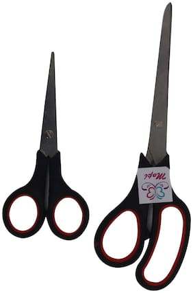 Mopi High Grade Heavy Duty (Combo Pack of 2) Scissors  (Set of 2, Black, Red)
