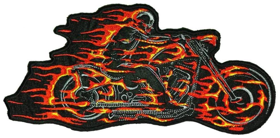 Motohog Unique Embroidered Sew Patch(Multi)