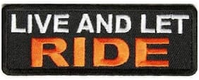 Motohog Unique Embroidered Sew on Patch (Live and Let Ride, Multicolor)
