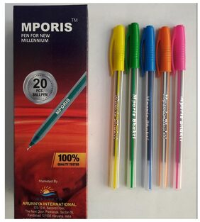Mporis Bhakti Blue Color Ball Pen (Pack Of 100)