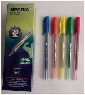 Mporis Smarth Blue Color Ball Pen (Pack Of 100)