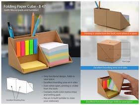 Ek Retail Shop Multi Compartments Card Broard Memo Pad & Tumbler