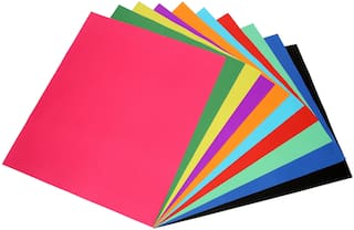 Multicolor Both Side 300 GSM Origami Paper,Pack of 100 Sheets : Size 15 x 15 cm : for Origami, Scrapbooking, Hobby Crafts, Project Work etc.