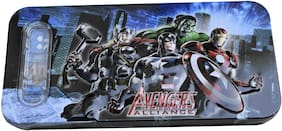 Multicolour Cartoon Printed AVENGERS SD03FR2 Shape Metal Pencil Box For KidS