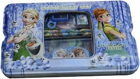 Multicolour Cartoon Printed FROZEN Shape Metal Pencil Box For KidS