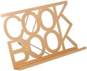 MyGift Modern Gold-Tone Metal COOKBOOK Stand