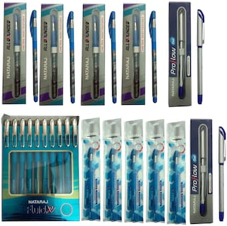 NATARAJ FLUID X BALL PEN+ALL ROUNDER BALL PEN+PROFLOW BALL PEN+ITIP POINT X GEL PEN