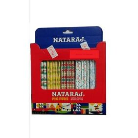 Nataraj Picture Writing Pencils Bonded Lead (Pack Of 100 )