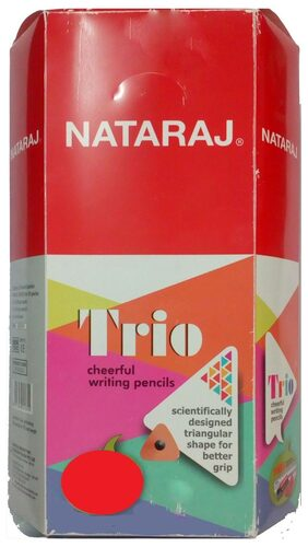 Nataraj Trio Cheerful Pencil (Pack of 100 Pencils)