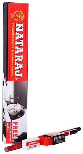 Natraj 621 Pencil (Set Of 50) (Get Free Eraser & Sharpener)