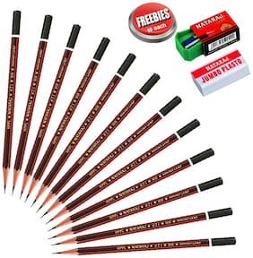 Natraj (Bunch Of 100) Pencils With Free 10 Eraser And Sharpner