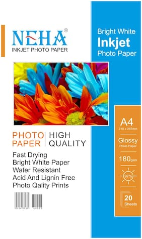 NEHA A/4 PHOTO PAPER GLOSSY 180GSM