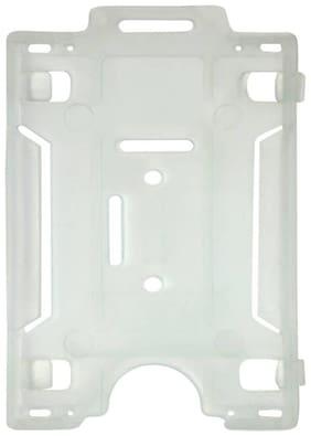 NEHA ID CARD HOLDER ( WHITE TRANSPARENT ) ( PACK OF 10 )