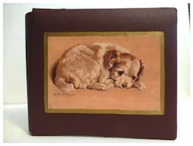 """New Puppy Quality Leather 7 1/2"""" x 6 1/2"""" Journal & Photo Album, Made In U.S.A."""