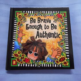 "NEW Suzy Toronto Journal, ""Be Brave Enough to Be Authentic"", from Enesco"