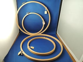"""New Vintage TG&Y Wooden Embroidery Rings NWT 2-12""""  2-8"""" Arts Crafts frames Hoop"""