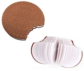 Niche Code - Biscuit Shaped Personal Diary/Desk Notepad Memo Book Small Diary (Brown) - Best for use, Best for Gifting