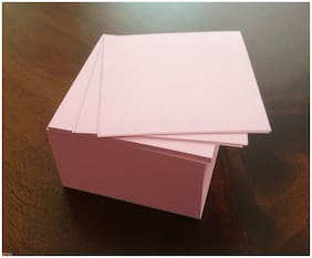"""Note Paper Refill Cube - Loose Replacement Sheets - 4 x 4 """" ( Pink )"""