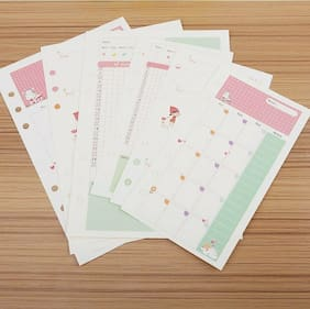 Notebook papers A5 pages planner filler paper inside page weekly monthly plan