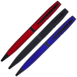 Oculus 3 Ball pens combo set, Fitted with Germany Made Refill. (Black, Red, Blue)