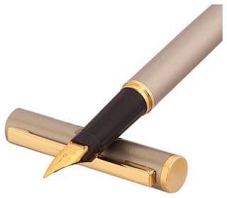 Oculus Primus-1332 Premium Collection Executive Medium Nib Golden Trims Metallic Fountain Metal Pen.Fitted With Quality Components.
