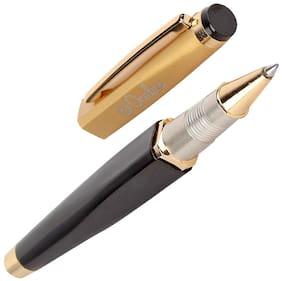 Oculus  Swag 5509 Titanium Steel Tip, Square Shaped Golden with Black Combination Metallic Roller Ball Pen.