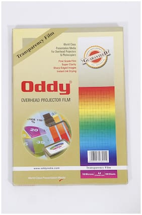 Oddy Clear Transparent Polyster Film - 100 Sheets