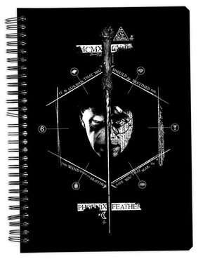 MC SID RAZZ OfficialHarry Potter Half And Half Notebook Licensed By Warner Bros  Usa