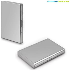 OKASTA High Quality | Pack of 2 | Steel Plain ATM 6 Card Holder  (Set of 2, Silver)