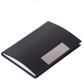 okasta High Quality   Black Steel (Business Card / ID / ATM) 6 Card Holder  (Set of 1, Black)