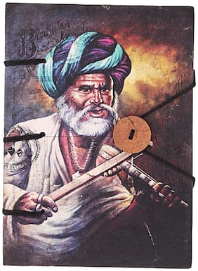 Old Man in Turban Print Special Binding With Button
