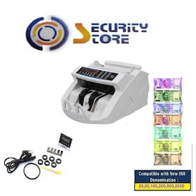 SECURITY STORE Old & New Inr- 10;20;50;100;200;500 & 2000 Notes Counting Machine With Fake Note Detector