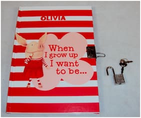 "Olivia Diary Personal Journal "" When I Grow Up"" 75 Pgs, Hardbound, w/Lock & Keys"