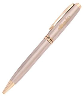 ONKAR CLASSIC-0405A A BEAUTIFUL DESIGNER BALL PEN IN ROSE GOLD COLOR AND GOLDEN COLOR CLIP . SPECIALLY, PACKED IN A BEAUTYFUL GIFT BOX.