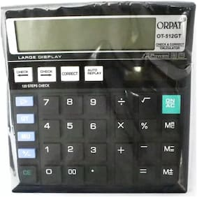 Orpat 0.41 Calculator OT-512GT Basic Black