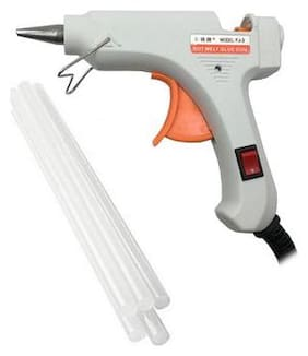 Ougesen White Mini 20 Watt Glue Gun On Off Switch With 5 Hot Melt Glue Sticks