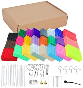Oytra Polymer Clay 24 Color Oven Bake and Set DIY Modeling with Tool Set and Accessories